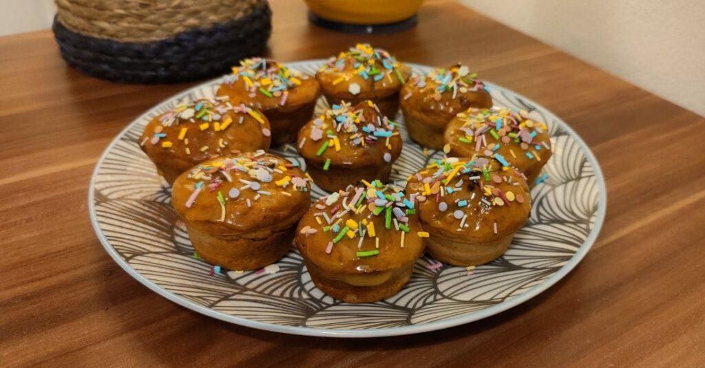 Muffin di carnevale vegani